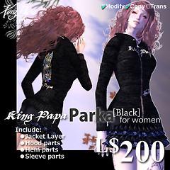 King-Papa 2010 New Parka Black