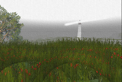 Canvas - Lighthouse in the Fog