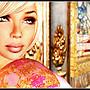 Monika wearing a sari
