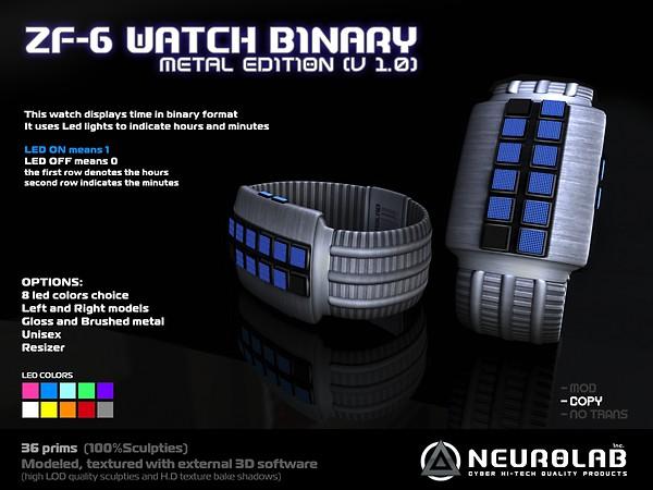 [Neurolab Inc] ZF-6 WATCH BINARY (metal) v1.0