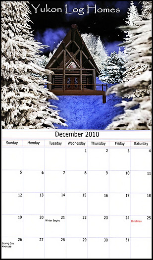 2011 Yukon Log Homes Calendar