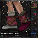MIASNOW Clothing Boot Flannel Pink PIC