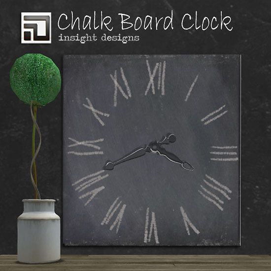 free gift Working Chalk Board clock