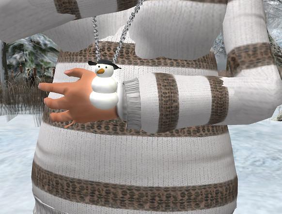 Mr Snowman Necklace