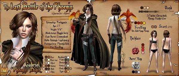 Last Battle of the Phoenix - Character Sheet