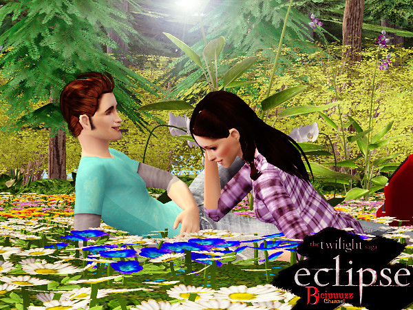 Bella and Edward in the meadow