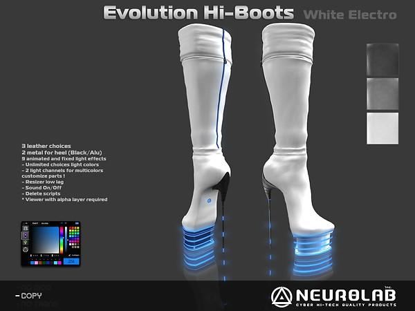 Evolution Hi-boots White electro v3