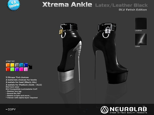 [NeurolaB Inc.] Xtrema Ankle Black Fetish v3