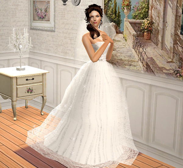 Wedding Altar Sims 3: Donika In Wedding Dress