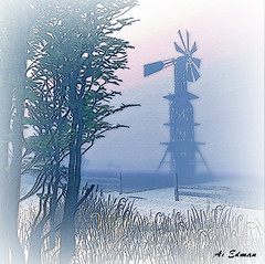 Or Windmill &amp; Clouds 