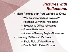 How to Create Pictures with Reflections