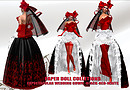 Paper doll - expetacular in black-RED-white  wedding gown_044