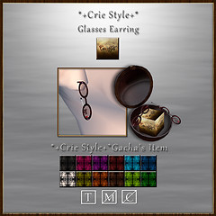 *+Crie Style+* Glasses Earring