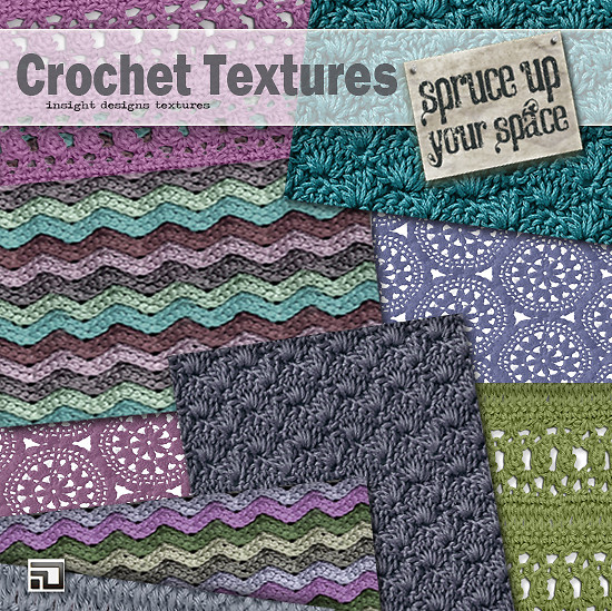 Boho Crochet Textures by Insight Designs for Spruce up your space