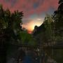 Sunset from the bridge at Ubi Sunt
