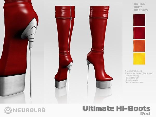[NeurolaB Inc.] Ultimate Hi-boots Red 2011