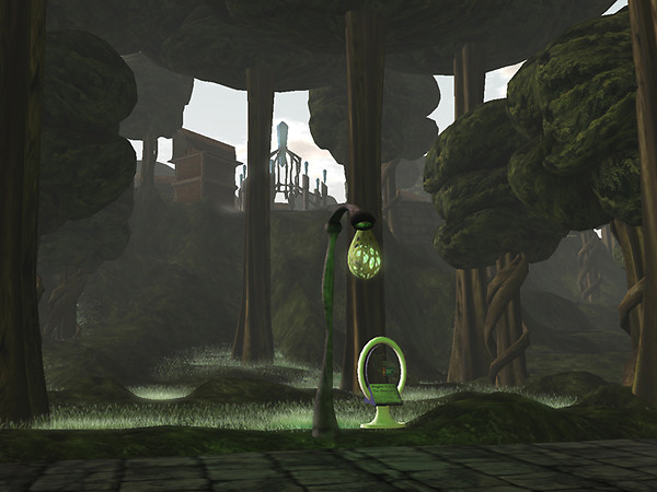 Forest of Shadow with kiosk