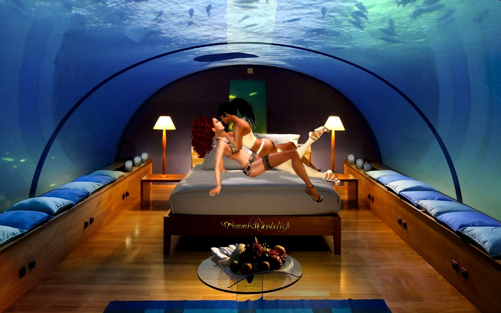 Love In Underwater Bedroom   All Formats On Koinup