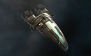 Eve Online: Incarna -  Amarrian artwork on a frigate