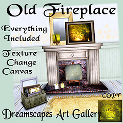 Old Fireplace - Dreamscapes Art Gallery for Moody Mondays