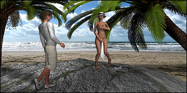 Griefer On The Beach