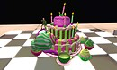 HAVE CAKE EAT IT TOO - Grim Bros. torley lounge cake wif de   colours of de  torleyperson - torley.linden
