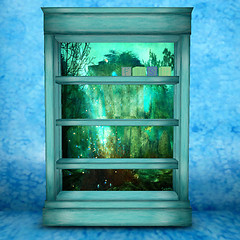 Art Bookcase *Sunken World* Dreamscapes Art Gallery NH TOTO Hunt Gift
