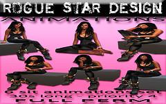 ROGUE STAR DESIGN Animations FemaleSit-Set