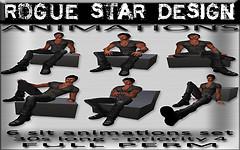 ROGUE STAR DESIGN Animations MaleSit-Set