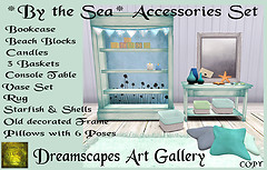 *By the Sea* Accessories Set - Dreamscapes Art Gallery for 60L$ Weekends