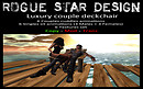 ROGUE STAR DESIGN Luxury couple deckchair