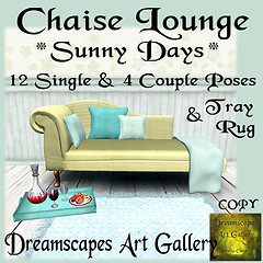 Chaise Lounge *Sunny Days* Dreamscapes Art Gallery for Moody Mondays