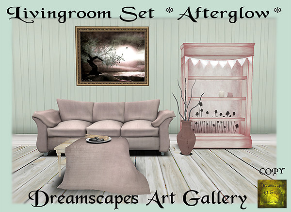 Livingroom Set *Afterglow* TOSL Hunt Gift Dreamscapes Art Gallery