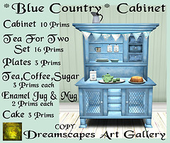 *Blue Country* Cabinet - Home & Garden Market Exclusive
