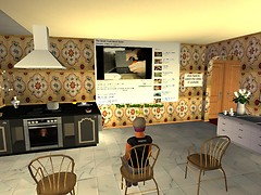 Watching a cooking vid at Master Chef