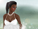 Glam Affair - Layla dark skin portrait Jul 2 F