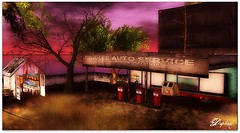 An old gas station