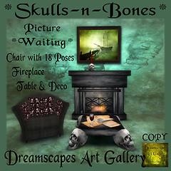 Skull-n-Bones Hunt Gift Dreamscapes Art Gallery