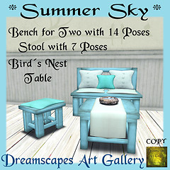 *Summer Sky* Bench Set - Dreamscapes Art Gallery