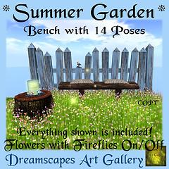 *Summer Garden* Bench Set - Home & Garden Market Exclusive
