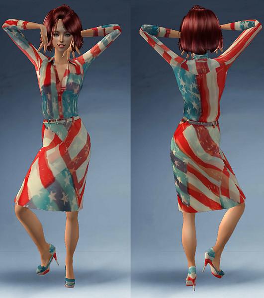 Premio Round American Flag Dress