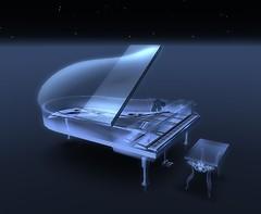 L+R Luna Lacrima white crystal piano