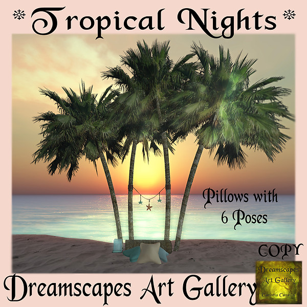 *Tropical Nights* Beach Set - Dreamscapes Art Gallery Hunt Gift for NH Tropical Nights