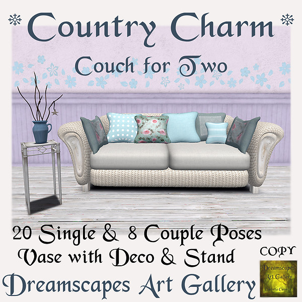 *Country Charm* Couch & Accessories