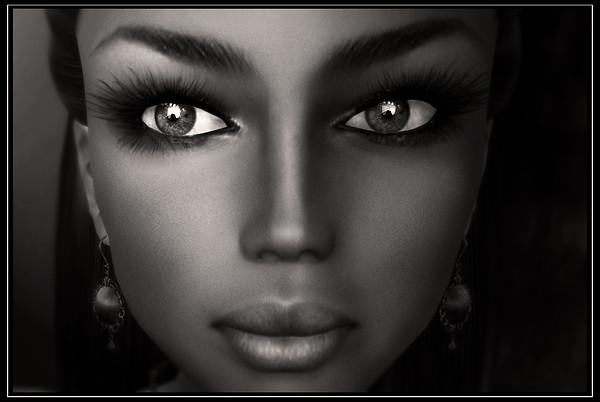 Venus in black and white