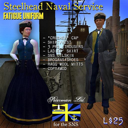 Steelhead Navy Uniforms
