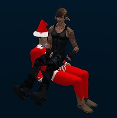 Failed a sim crossing and I sit on Santa's lap