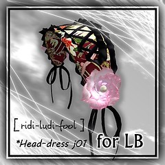 [ ridi-ludi-fool ] head-dress j01 -LB POP