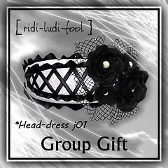 [ ridi-ludi-fool ] head-dress j01 -G gift POP