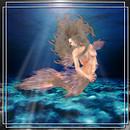 Mermaid pose poster